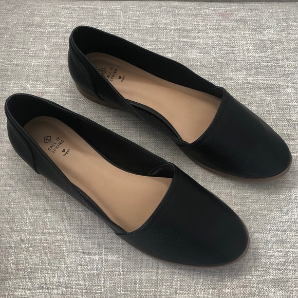 Call It Spring -  Black Women's Ballet Flats 8.5